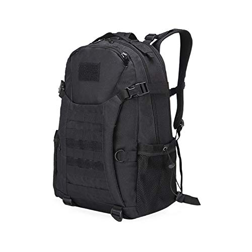 OASIS LAND New 40L Outdoor Bag 800D Climbing Mountaineering Backpack Camping Hiking Trekking Rucksack Travel Sport Bag-Blackcolor-OneSize
