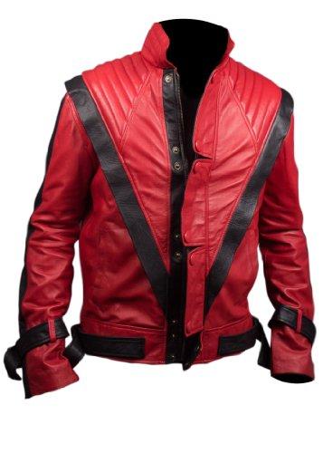 Feather Skin Michael Jackson Chaqueta De Cuero De Imitación De Suspenso En Color Rojo