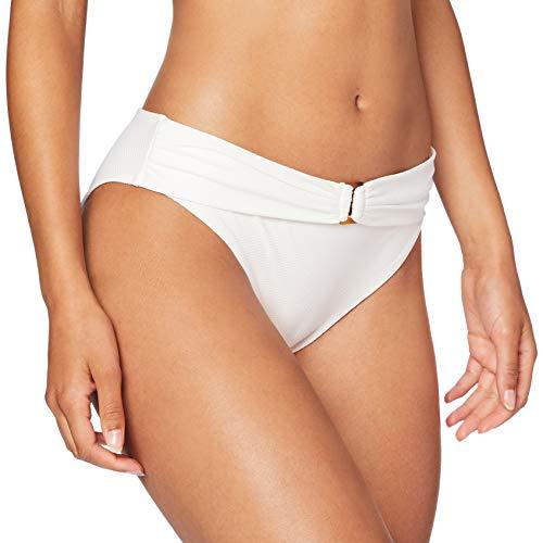 Women'secret, Parte Superior de bikini clásica con textura y detalle frontal de cinturón con...
