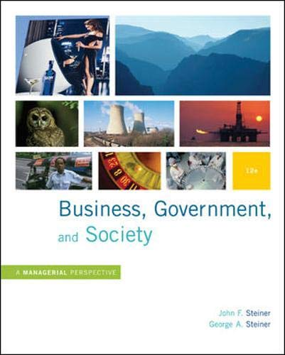 Business, Government and Society: A Managerial...