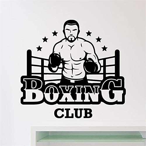 Wall Decal Quote Words Lettering Decor Sticker Wall Vinyl Boxing Club Logo Sports Design Home Room Interior Decor Fitness Club Boxing