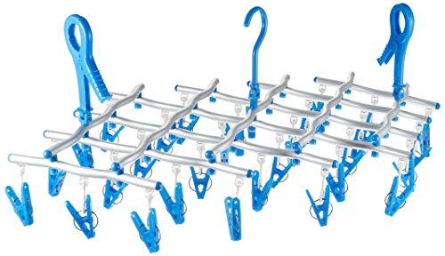 キクロン 洗濯ハンガー スペーススリム2 伸縮ハンガー30 ブルー 8×49×27cm SSH-30-2