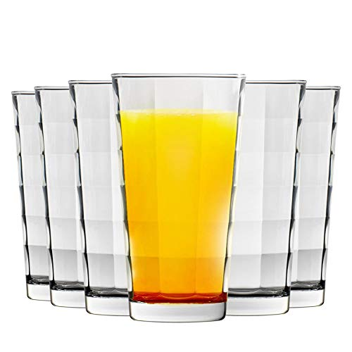 Bormioli Rocco Cube Effacer Highball verres à cocktail - 365ml - Lot de 6