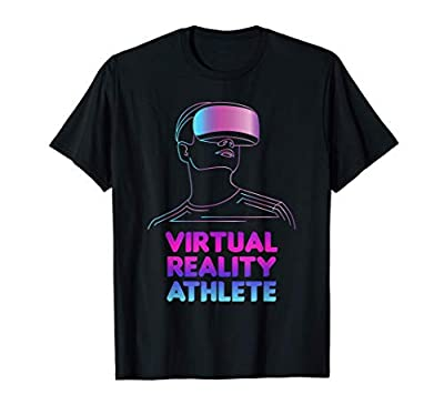 VR Virtual Reality Player PC Nerd Athlete Gaming Gamer Gift T-Shirt
