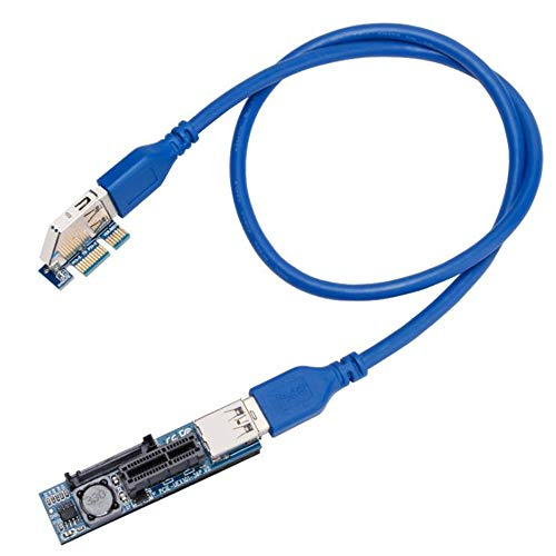 Fayme PCI-E Extender PCI E 1X hasta 1X Riser USB 3.0 Cable...