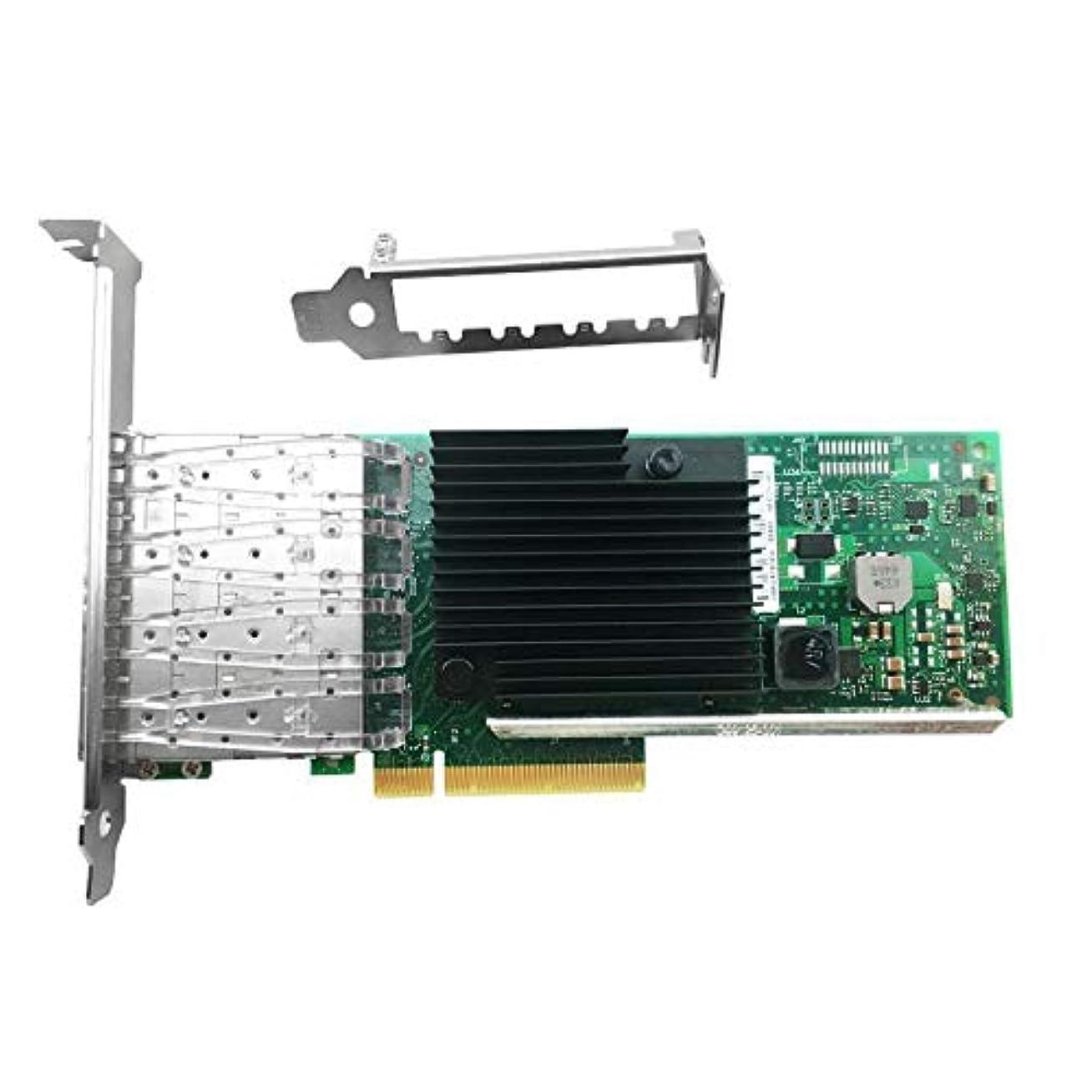 拡声器調整可能ましいFidgetGear Intel X710-DA4 4ポート 10Gbps SFP+ PCIe 3.0 x8 10Gbps イーサネット ネットワークカード
