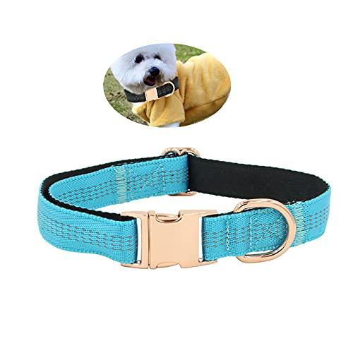 MOTOY Collar para Gatos Collares Ajustables para Gatos Liberación Rápida Collar de Gato Collar Reflectante para Mascotas Cómodo Collar para Perros Medianos o Grandes