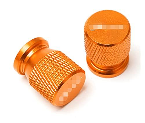 ZhengFeng Shop Ajuste para Suzuki Bandit 1200 1250 / S / F 250 400 650 GSF650 GSX1250 GSX1400 Motorcycle CNC Accessories Válvula de neumático de la rueda Tapa de la tapa del tallo ( Color : Orange )