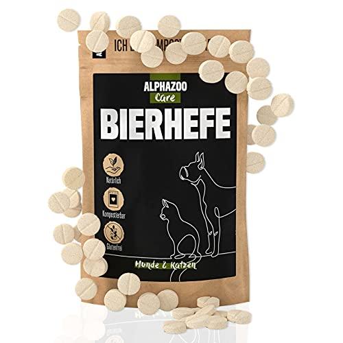 alphazoo Lievito di birra per cani 50 compresse   Prodotto naturale per pelle lucida e vitale   ricco di minerali e vitamine B (biotina)