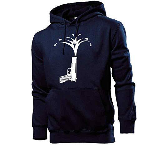 Generisch shirt84.de - Sudadera con capucha para hombre, diseño de pistola de agua azul marino XL