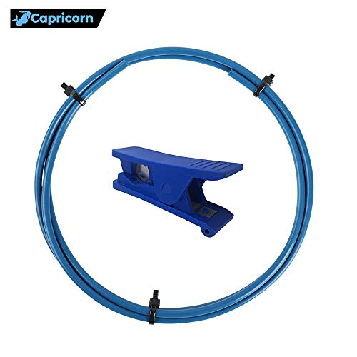 Creality Capricorn Bowden PTFE Tubing Tube XS Series 1 Meter 1.75MM Filament with PTFE Teflon Tube Cutter for Ender 3 Ender 3 Pro, Ender 5, Ender 5 Plus CR-10,CR-10V2 3D Printer