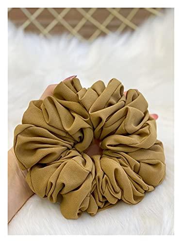 JHGTRFFM Corbata para el Pelo Banda de Cabello for Mujer de Gasa Banda de Goma de Gran tamaño Hermosa Hijab voluminizando Scrunchie Gran pañuelo (Color : 18, Size : 18CM)