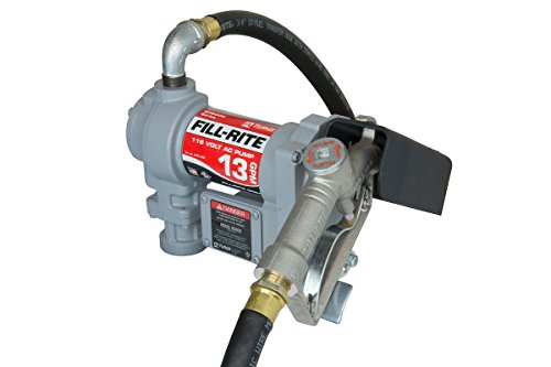 Fill-Rite SD602 115V 13 GPM (49 LPM) Fuel Transfer Pump with Discharge Hose, Adjustable Suction Pipe, Manual Nozzle