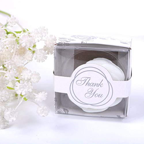 AIXIANG 24 Pack Handmade White Rose Style Soap Favors Guests Keepsakes for Wedding Favors, Parties Decors, Thanksgiving Gifts ,Bridal Shower Favors Decorations, Soaps