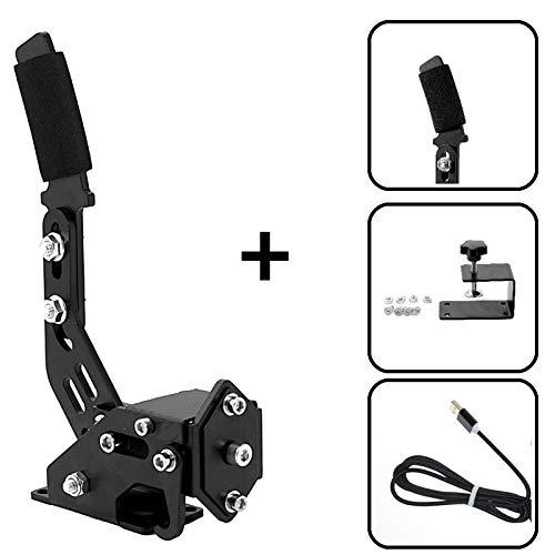 Zootopo Handbremse für PC USB Handbremse 14Bit Hall Sensor, Simulation Wettbewerb für Rennspiele G25/27/29 T500 FANATECOSW Dirt Rally mit Klemme schwarz