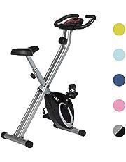 Ultrasport FBike, fietstrainer, hometrainer, opvouwbare fitnessfiets met trainingscomputer en hartslagsensoren, inklapbaar