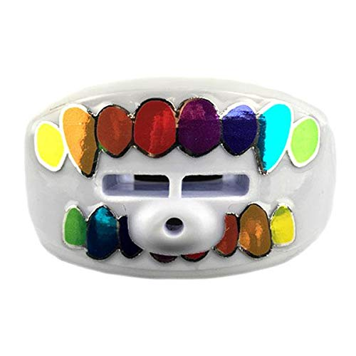 Damage Control Mouthguards Lip Guard Gummo Pacifier Mouthpiece, White, One Size Fits All