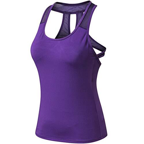 Clásico Chaleco para Fitness Camiseta para Correr Deporte Camisetas Deportiva de Mujer Camiseta sin Mangas Deportiva Tirantes Tank Top