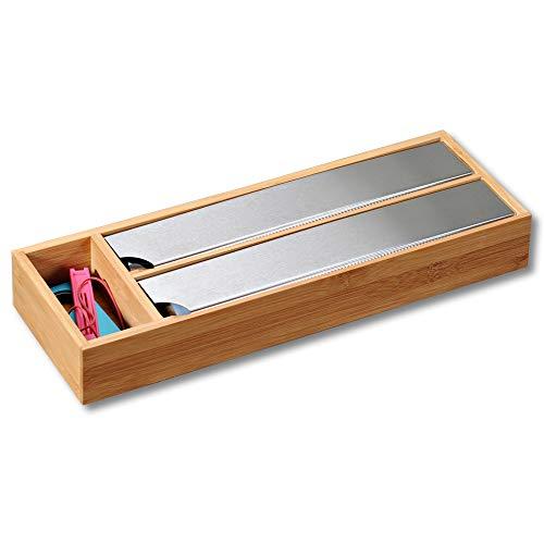 Kesper Dispensador de Papel de Aluminio para cajón, bambú, 39,5 x 5,5 x 13 cm, marrón, 39,5 x 5,5 x 13 cm