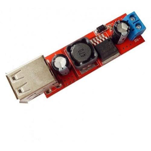 ExcLent DC-DC 3A Dual USB Salida Buck Regulador Módulo De Fuente De Alimentación-Rojo