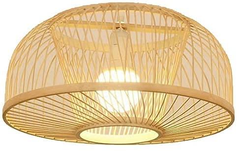 Lámpara Colgante De Bambú Natural Lámpara Colgante De Mimbre De Mimbre Tejida A Mano De Bambú E27 Lámpara De Techo De Mimbre De Mimbre De Bricolaje, Para Cocina, Sala De Estar, Dormitorio, Restaurante