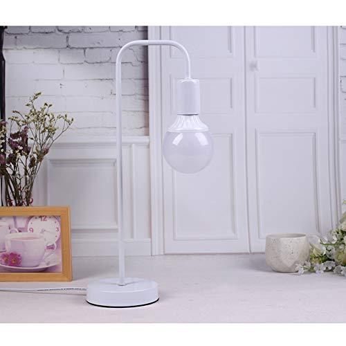 Lámpara Escritorio LED, Lectura Moderna y Simple y Lámpara de Mesa de Protección Ocular, 3 Temperaturas de Color, Adecuado para Sala de Estar, Dormitorio,Blanco