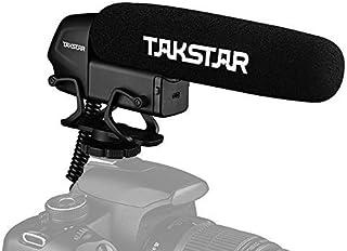 TAKSTAR SGC-600 オンカメラ 外部マイク コンデンサーマイク インタビューマイク スーパーカーディオイド 3レベルゲイン制御 ローカットスイッチ 3.5mmプラグ ウインドスクリーン付き コールドシューマウント付き キヤノン ニコ...