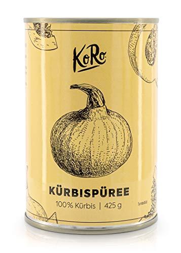 KoRo – Kürbispüree pur 425 g – 100 % Kürbis – Ideal für Pumpkin Pie – Vegan