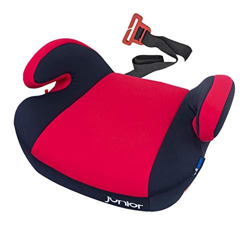 Petex - Rialzo per seggiolino auto Maja con sistema di fissaggio ISOFIX, gruppo ECE 3, bambini di circa 7-12 anni, 22-36 kg, rosso