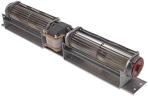 ebm-papst QLK45/1818A4-3030LH-16 Querstromlüfter Anschluss Flachstecker 6,3mm ø 49mm Lager Silikon 36W Motor mittig Walze 49mm