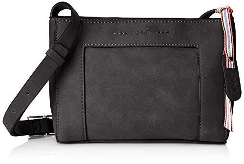 Esprit Accessoires Damen 019ea1o011 Umhängetasche, Schwarz (Black), 5x15x21 cm