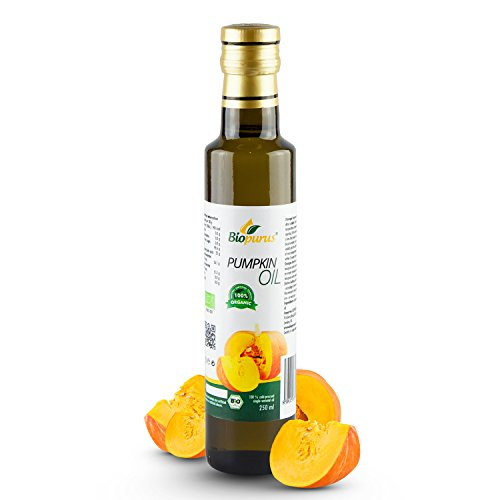 Certified Organic Cold Pressed Pumpkin Seed Oil 250ml Biopurus