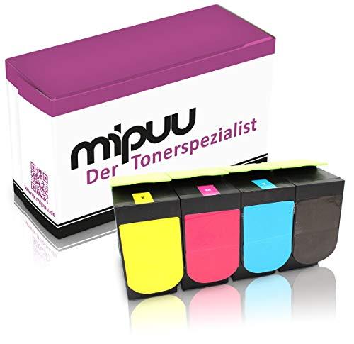 4 Mipuu toners compatibel met Lexmark 71B20K0 71B20C0 71B20M0 71B20Y0 (zwart, cyaan, magenta, geel) voor CS317dn CS417dn CS517de CX317dn CX417de CX517de kleurenlaserprinter