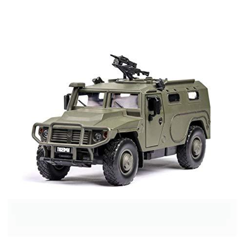 HCEB Coche Fundido Modelo 1:32 para Tiger-M Aleación Simulación Diecasts Modelo Adornos De Automóviles Sound and Light to-y Car For Children Birthday Gifts Boy Girl (Color : Verde)