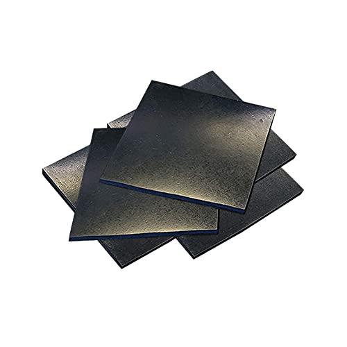 BDOUyi Hoja de Caucho de Silicona Negra - Hoja de Caucho de 5 Piezas, Resistente a Altas temperaturas,5pcs,50x50x25mm
