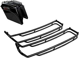 Seitenkoffer Top Reling Kompatibel für Harley Davidson Touring 93 13 schwarz