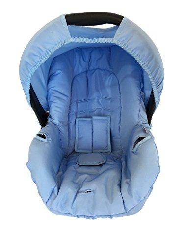 Capa para Bebe Conforto, Multimarcas sem Bordado, Alan Pierre Baby, Azul Claro/Branco