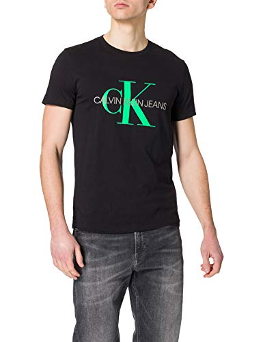 Calvin Klein Jeans Seasonal Monogram tee 2 Camiseta, CK Black/tucán andino, M para Hombre