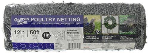 Garden Zone 161250 396869 Galvanized Hex Netting, 1 x 12 x 50'