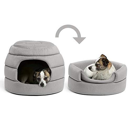 PAWZ Road ペットハウス ベッド 犬 猫 小型犬 中型犬 多用 暖かい 2WAY ハチの巣形 おしゃれ グレー
