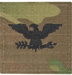 Multicam OCP Rank Insignia Fastener - Colonel COL