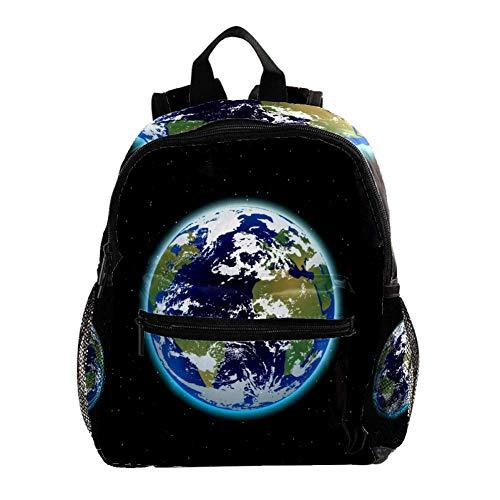 Rucksack Erde Kinderrucksack Schultasche Wasserdicht für Kindergarten Vorschule Alter 3-8 Jahre alt 25.4x10x30CM