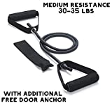 FEGSY Resistance Tube Exercise Bands for Stretching, Workout, and Toning for Men,