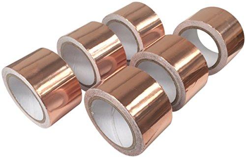 Lot de 6 rouleaux de ruban adhésif anti-limaces en cuivre 30 mm x 4 m