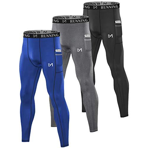 MEETYOO Leggings Hombre, Mallas Running Pantalon Deporte Pantalón de Compresión para...