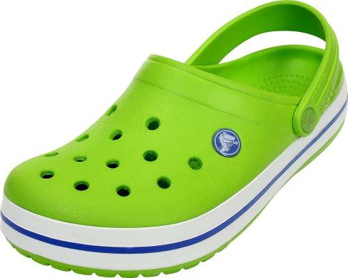 Crocs Crocband, Sabots Mixte Adulte, Vert (Volt Green/Varsity Blue) 46/47 EU