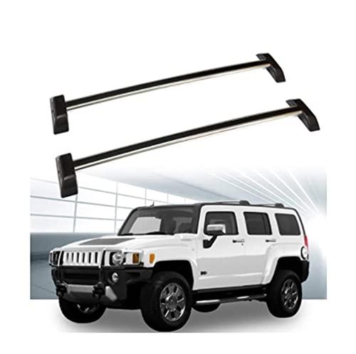 LINMAN Compatible con 2006 2007 2009 2009 2010 2011 2012 2013 Hummer H3 L, Portador Uggage Top Cross Barras Coche Rack Techo de Aluminio Rack