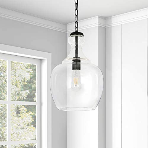 Clear glass pendant lights for kitchen _image3