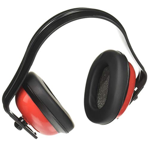 Califone HS40 Hearing Safe Hearing Protector Rugged Polypropylene Headstrap Adjustable Headband ABS Plastic Earcups Designed for Highuse Settings Bright Red Safety Color Pack of 1