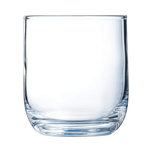 Arcoroc, Vaso High Ball Elisa 7.75oz 230ml, para Whisky, Vidrio Templado. Set de 6 Vasos